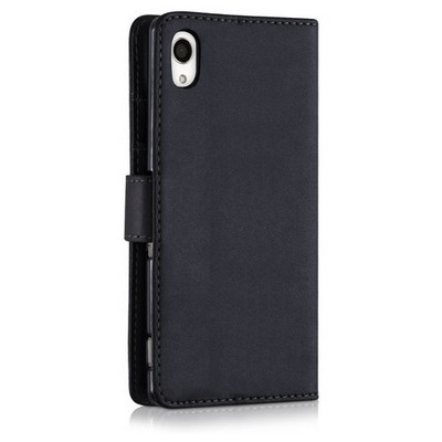 Microsonic Sony Xperia M4 Aqua Kılıf Cüzdanlı Deri Siyah Cep Telefonu Kılıfı
