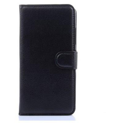 Microsonic Lenovo S90 Sisley Kılıf Cüzdanlı Deri Siyah Cep Telefonu Kılıfı