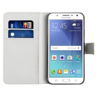 Microsonic Samsung Galaxy J7 Kılıf Cüzdanlı Deri Beyaz Cep Telefonu Kılıfı