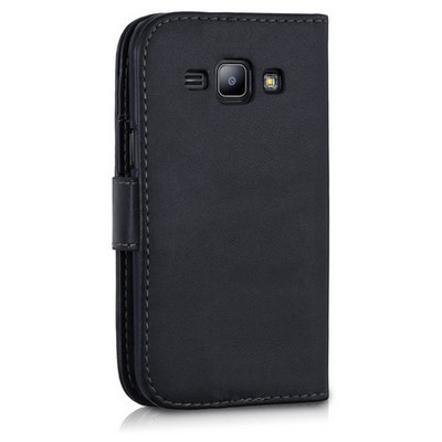 Microsonic Samsung Galaxy J5 Kılıf Cüzdanlı Deri Siyah Cep Telefonu Kılıfı