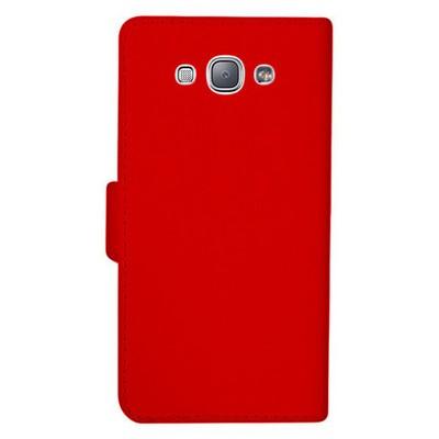 Microsonic Samsung Galaxy A8 Kılıf Cüzdanlı Deri Kırmızı Cep Telefonu Kılıfı