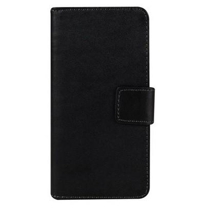 Microsonic Samsung Galaxy A8 Kılıf Cüzdanlı Deri Siyah Cep Telefonu Kılıfı