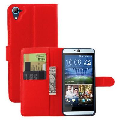 Microsonic Htc Desire 826 Kılıf Cüzdanlı Deri Kırmızı Cep Telefonu Kılıfı