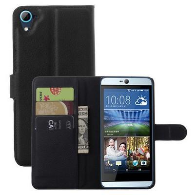 Microsonic Htc Desire 826 Kılıf Cüzdanlı Deri Siyah Cep Telefonu Kılıfı