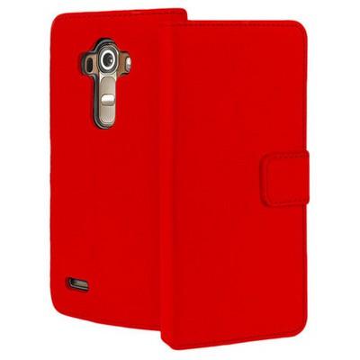 Microsonic Lg G4 Kılıf Cüzdanlı Deri Kırmızı Cep Telefonu Kılıfı
