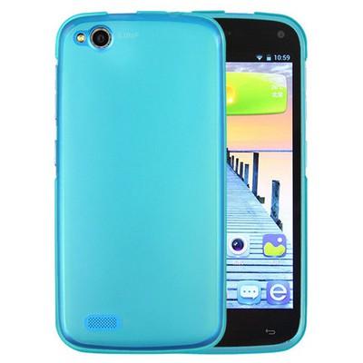 Microsonic General Mobile Discovery Kılıf Transparent Soft Mavi Cep Telefonu Kılıfı