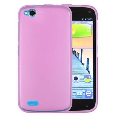 Microsonic General Mobile Discovery Kılıf Transparent Soft Pembe Cep Telefonu Kılıfı