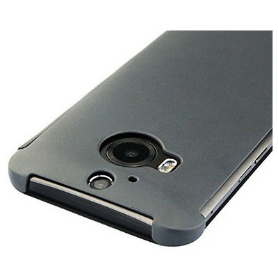 Microsonic Htc One M9+ Plus View Cover Dot Kapaklı Akıllı Modlu Gri Cep Telefonu Kılıfı
