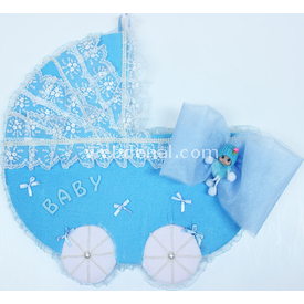 Handan Kapı Süsü Puset Mavi Dekoratif Süs