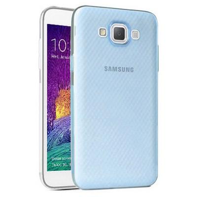 Microsonic Samsung Galaxy Grand Max Kılıf Transparent Soft Mavi Cep Telefonu Kılıfı