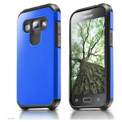Microsonic Samsung Galaxy A8 Kılıf Slim Fit Dual Layer Armor Mavi Cep Telefonu Kılıfı