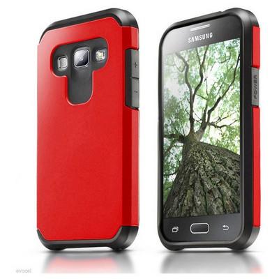 Microsonic Samsung Galaxy A8 Kılıf Slim Fit Dual Layer Armor Kırmızı Cep Telefonu Kılıfı