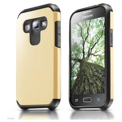 Microsonic Samsung Galaxy A8 Kılıf Slim Fit Dual Layer Armor Gold Cep Telefonu Kılıfı