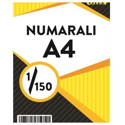 Ofix Numaralı A4 Kağıt 80 Gr Dikey 1-150 Sayfa Sürekli Form