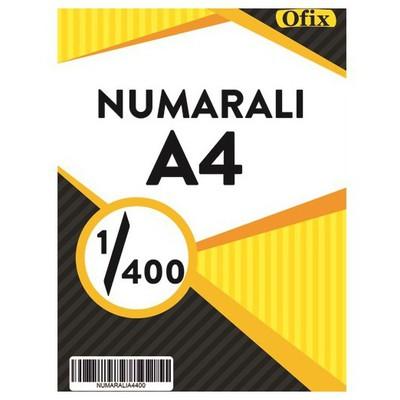 Ofix Numaralı A4 Kağıt 80 Gr Dikey 1-400 Sayfa Sürekli Form