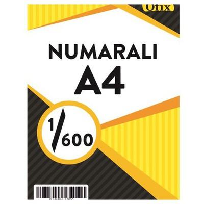 Ofix Numaralı A4 Kağıt 80 Gr Dikey 1-600 Sayfa