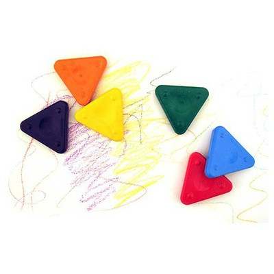 Primo Üçgen Sihirli Mum Boya 6 Renk Resim Malzemeleri