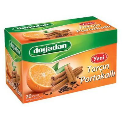 Dogadan Bardak Poşet Çay Tarçın Portakal Aromalı 20 Adet Bitki Çayı