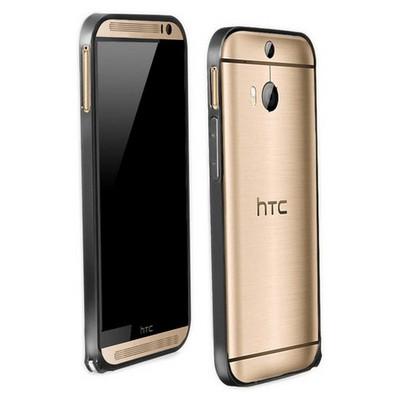 Microsonic Htc One M8s Ultra Thin Metal Bumper Kılıf Siyah Cep Telefonu Kılıfı