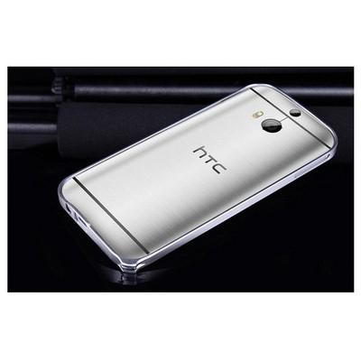 Microsonic Htc One M8s Ultra Thin Metal Bumper Kılıf Gümüş Cep Telefonu Kılıfı