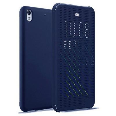 Microsonic View Cover Dot Delux Kapaklı Htc Desire 626 Kılıf Akıllı Modlu Mavi Cep Telefonu Kılıfı