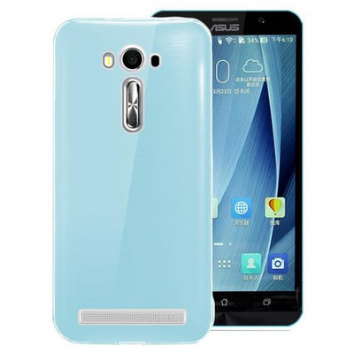 Microsonic Asus Zenfone 2 Laser 5.0'' Kılıf Transparent Soft Mavi Cep Telefonu Kılıfı