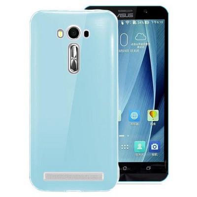 Microsonic Asus Zenfone 2 Laser 5.5'' Kılıf Transparent Soft Mavi Cep Telefonu Kılıfı