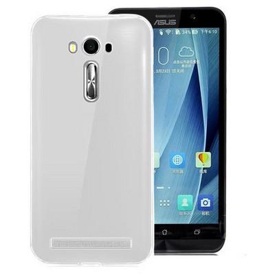 Microsonic Asus Zenfone 2 Laser 5.5'' Kılıf Transparent Soft Beyaz Cep Telefonu Kılıfı