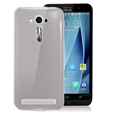 Microsonic Asus Zenfone 2 Laser 5.5'' Kılıf Transparent Soft Siyah Cep Telefonu Kılıfı