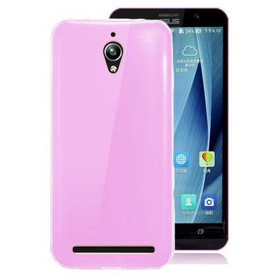 Microsonic Asus Zenfone Go Kılıf Transparent Soft Pembe Cep Telefonu Kılıfı