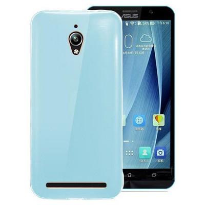 Microsonic Asus Zenfone Go Kılıf Transparent Soft Mavi Cep Telefonu Kılıfı