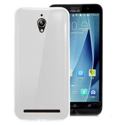 Microsonic Asus Zenfone Go Kılıf Transparent Soft Beyaz Cep Telefonu Kılıfı
