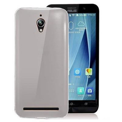 Microsonic Asus Zenfone Go Kılıf Transparent Soft Siyah Cep Telefonu Kılıfı