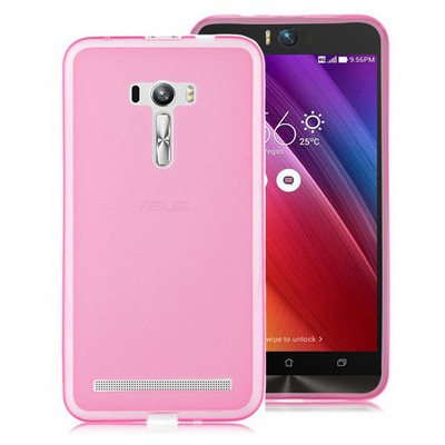Microsonic Asus Zenfone Selfie Kılıf Transparent Soft Pembe Cep Telefonu Kılıfı