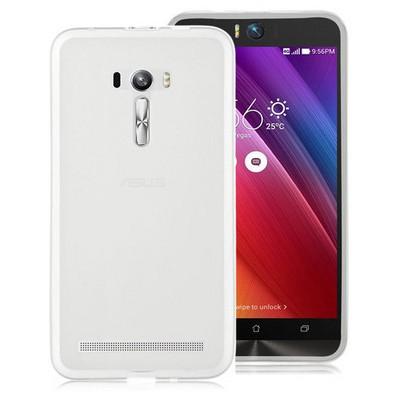 Microsonic Asus Zenfone Selfie Kılıf Transparent Soft Beyaz Cep Telefonu Kılıfı