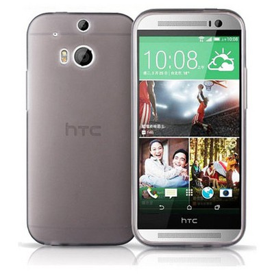 Microsonic Transparent Soft Htc One M8s Kılıf Siyah Cep Telefonu Kılıfı
