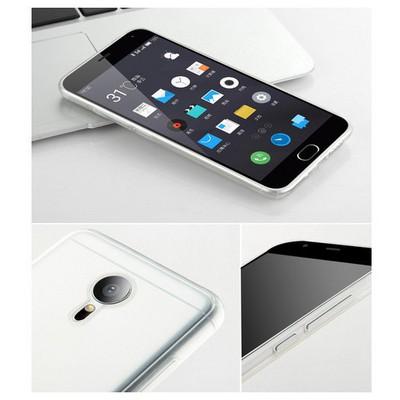 Microsonic Meizu M2 Note (note 2) Kılıf Transparent Soft Beyaz Cep Telefonu Kılıfı