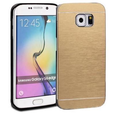 Microsonic Samsung Galaxy S6 Edge+ Plus Kılıf Hybrid Metal Gold Cep Telefonu Kılıfı