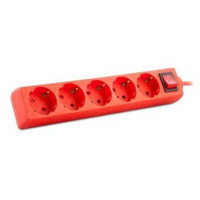 S-Link Spg-zx-5-k 1.5m 5 Li Kırmızı Priz Çoklayıcı Grup Priz / Uzatma Kablosu