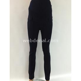 Trndy Trendy Çelik Örme Hamile Pantalon Lacivert 40 Pantolon, Şort, Tayt