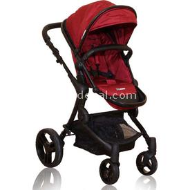 Premom Soho Bebek Arabası Wine Red Çift Yönlü Bebek Arabası