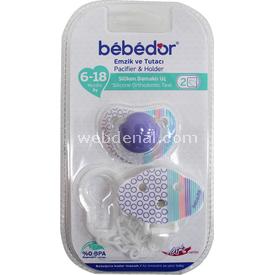 Bebedor 8162 Emzik Ve Tutacı Mor Bebek Besleme