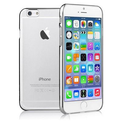 Microsonic Metalik Transparent Iphone 6s Plus Kılıf Gümüş Cep Telefonu Kılıfı