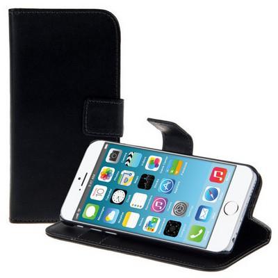 Microsonic Cüzdanlı Standlı Deri Iphone 6s Plus Siyah Cep Telefonu Kılıfı
