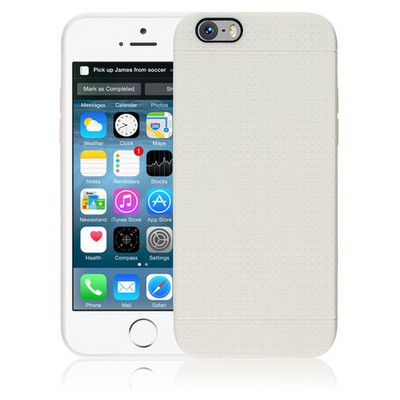Microsonic Dot Style Silikon Iphone 6s Plus Kılıf Beyaz Cep Telefonu Kılıfı