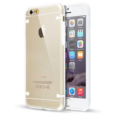 Microsonic Hybrid Transparant Iphone 6s Plus Kılıf Beyaz Cep Telefonu Kılıfı