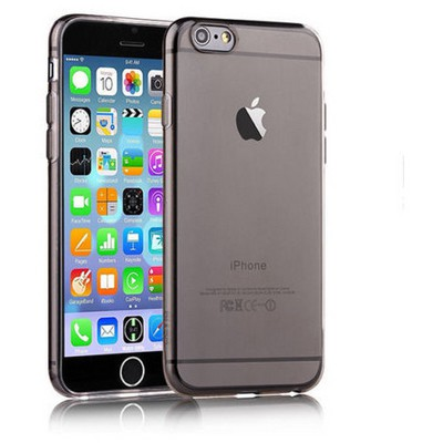 Microsonic Slim Transparent Soft Iphone 6s Plus Kılıf Siyah Cep Telefonu Kılıfı