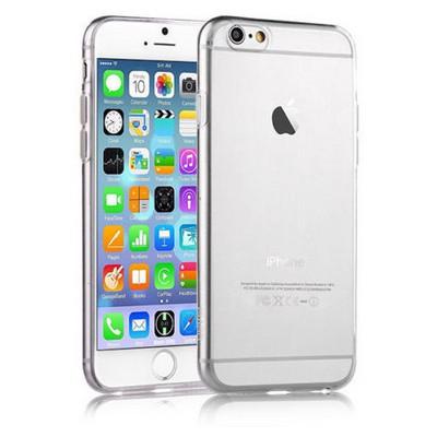 Microsonic Slim Transparent Soft Iphone 6s Plus Kılıf Beyaz Cep Telefonu Kılıfı