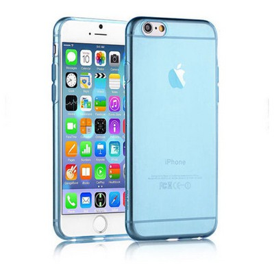 Microsonic Slim Transparent Soft Iphone 6s Plus Kılıf Mavi Cep Telefonu Kılıfı