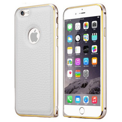 Microsonic Derili Metal Delüx Iphone 6s Kılıf Beyaz Cep Telefonu Kılıfı